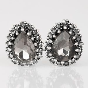 Quintessentially Queen - Silver Clip-On Earrings